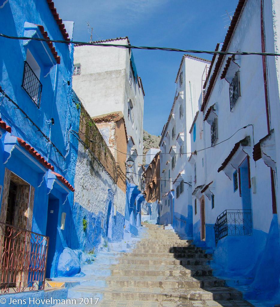 Blaue Häuser chefchaouen die blaue stadt unterwegsgedanken