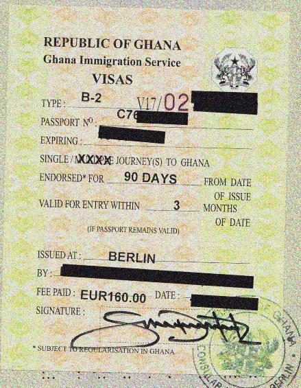 Visum für Ghana